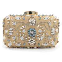 Women Black Clutch Wedding Bags Female Vintage Clutches Wallets Ladies Beaded Pearl Evening Bags Party Purses