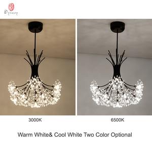 Image 3 - Luces colgantes de la serie Dandelion, lámpara colgante decorativa artística con forma de rama y bola, incluyen bombillas LED G4, vestíbulo, cafetería, sala de estar