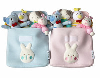 infant baby bell velvet rattles toys compounding filling toy sets