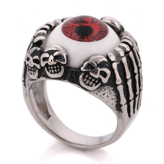 Resident Evil Eye Ring 316l Stainless Steel Party Fashion Jewelry 2016 New Item Punk Men