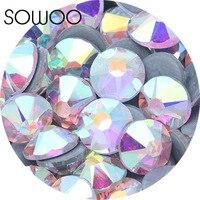 8 небольшие разрезы 8 большой разрезов кристалла ab аналогичный SWA rhinestone1440pcs/lot Высокое качество исправление Стразы использовать для одежда