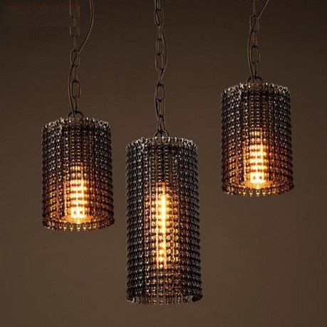 Retro Loft Style Creative Metal Chain Edison Pendant Light Fixtures Vintage Industrial Lighting For Dining Room Hanging Lamp 2 pcs loft retro light rusty color hanging lamp cafe bar pendant lights creative edison lamps industrial style pendant lighting