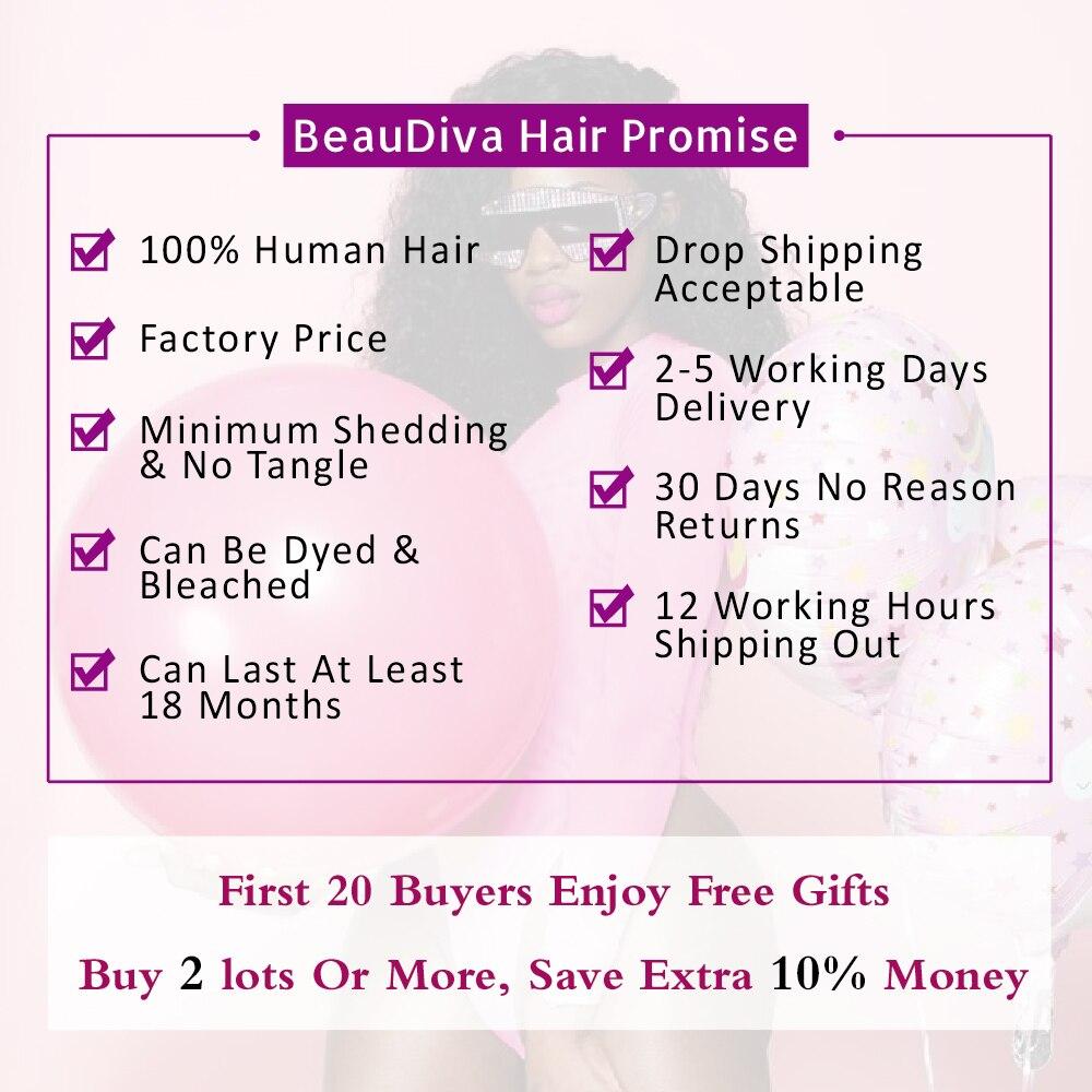 Beaudiva Rambut Pra-warna 100% Remy Rambut Manusia Bundel Dengan - Pasokan kecantikan - Foto 2