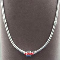100 925 Sterling Silver Bracelet Charm Necklace For Men Women Fashion Jewelry 3mm 18 20 Inche