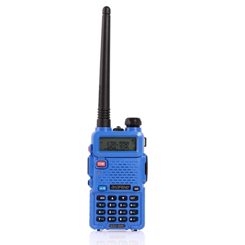 2 шт. baofeng уф-5r Walkie Talkie рации 128 Dual Band UHF& VHF 136-174 МГц и 400-520 МГц Baofeng УФ-5R портативна Рация 5 Вт Двухстороннее радио для рации рация баофенг uv-5r - Цвет: 2xUV5R Blue