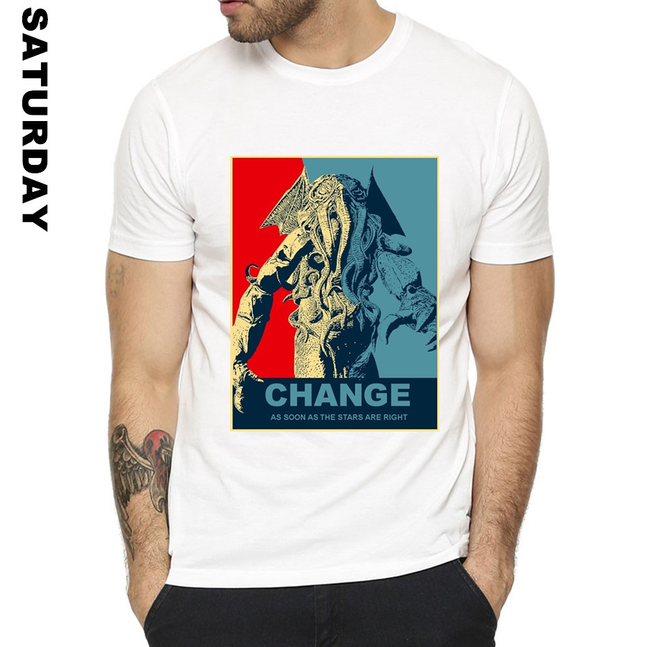 Cthulhu Design Funny T Shirt for Men and Women,Unisex Comfortable Breathable Graphic Premium T-Shirt Men's Streewear