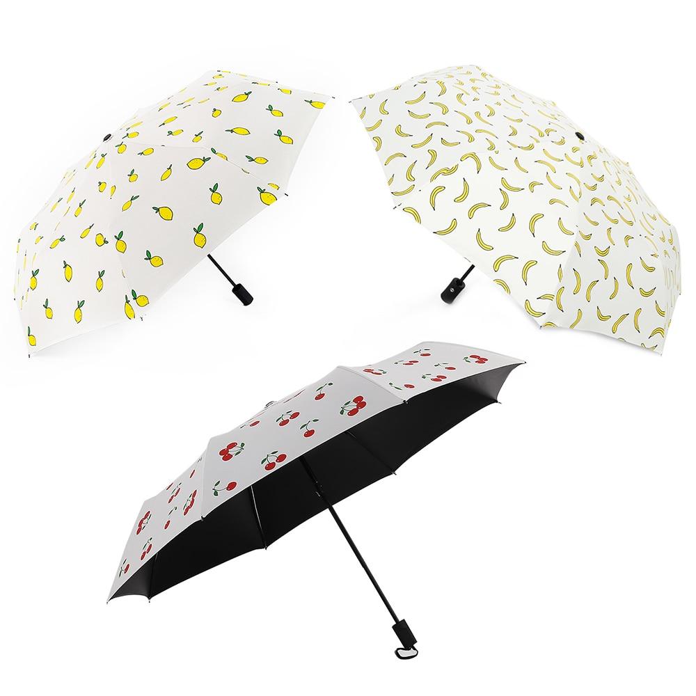 Color : B Umbrella Mini Ultra-Light Anti-UV Umbrella Dual-use Eight-Bone Aluminum Frame Three-fold Umbrella Windproof Folding