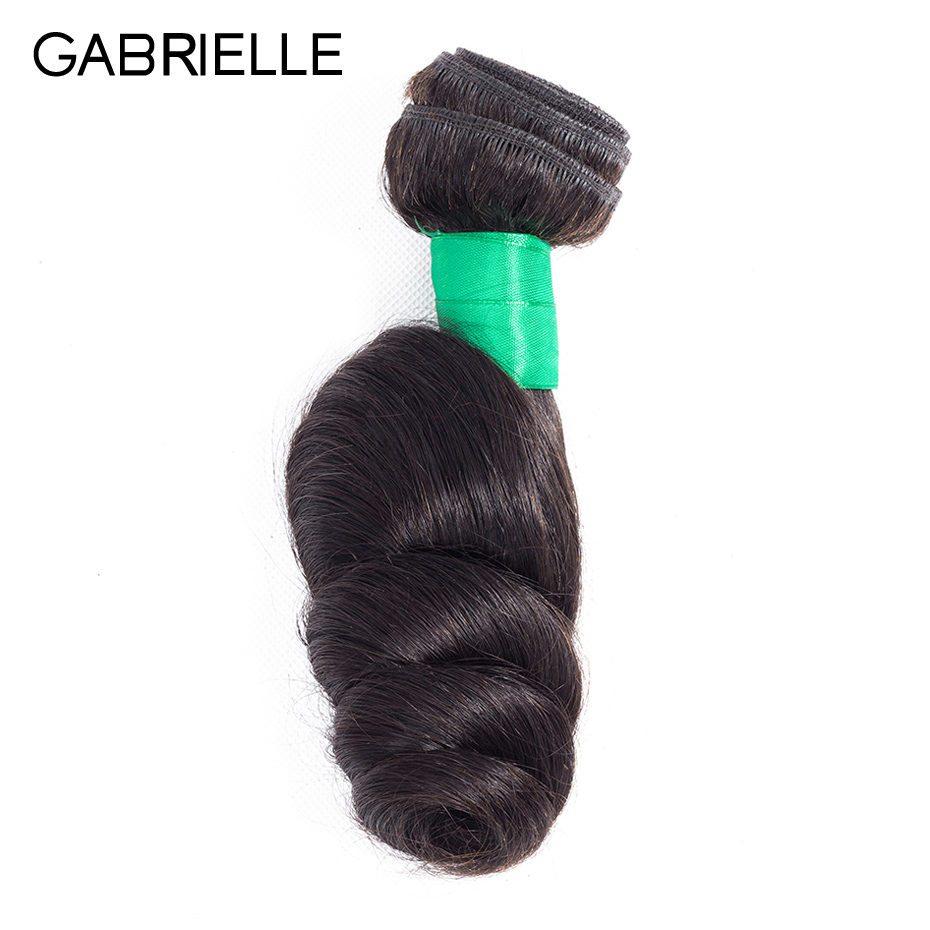 Gabrielle Brazilian Loose Wave Hair Bundles 1 Piece 8-26 inch Natural Black Color Non Remy Human Hair Weave Free Shipping