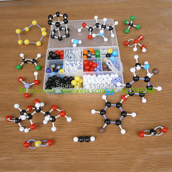 1 large set structure model of Molecular for teachers Chemistry Organic and Inorganic Structure Models DLS-23534 free shipping купить