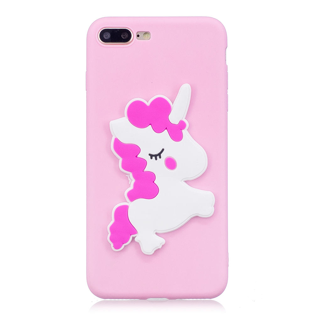 3D Silicon Cartoon Patch TPU Covers Cases For Apple iPhone 7Plus iPhone7Plus Fundas Phone Cases Capas For iPhone 7 Plus Covers