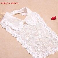 Atacado New Bonito Mulheres Blusa Da Moda Camisa de Colarinho Falso Roupas Golas Destacáveis Branco Laço A113