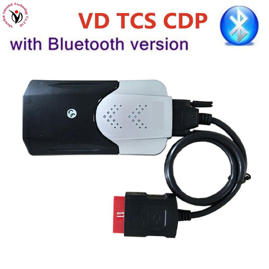 Heißer Verkauf Neue Vci 2015,3 Release3/2016 R0 VD TCS CDP Pro Bluetooth-auto-selbstdiagnosescanner-werkzeug OBD2 Autos/TURCKs Grau CDP Ein Jahr Garantie