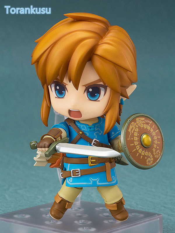 The Legend of Zelda Link Nendoroid 733# Breath of the Wild 100MM Collectible Model Toy Game Legend of Zelda Nendoroid Doll nendoroid the legend of zelda link majora s mask 3d figure with original box