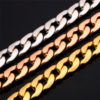 2014 Big Size Bracelet Men Wholesale Trendy 18K Real Gold Plated 11 MM Chunky Link Chain