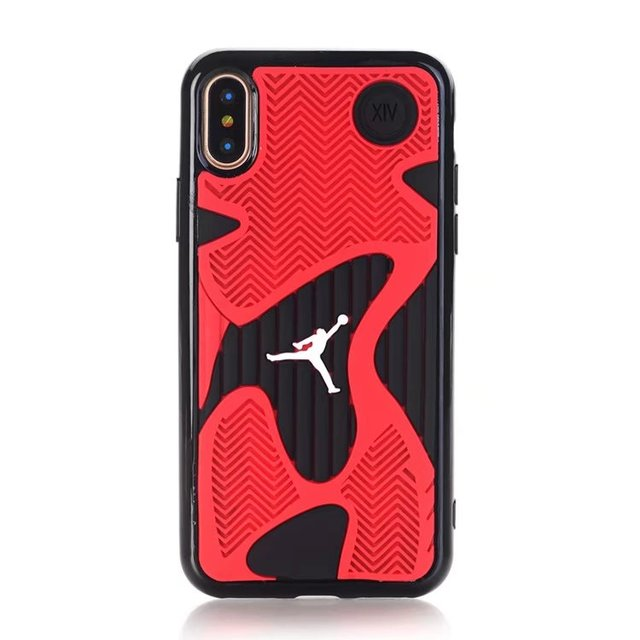 For iPhone X AJ Jordan 14 Shoe Sole Rubber Phone Cases For