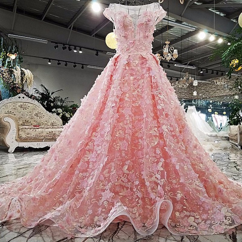 2018 Backless lace fiesta dress up ball gown Chapel Train lace up ...