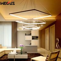 Free Delivery WECUS Patent Design New Product Led Restaurant Lamp Chandelier The Living Room Lamps Acrylic