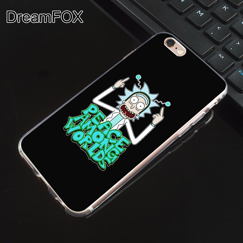 DREAMFOX M552 Rick And Morty Soft TPU Silicone Case Cover For Apple iPhone XR XS Max 8 X 7 6 6S Plus 5 5S SE 5C 4 4S in Fitted Cases from Cellphones Telecommunications