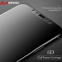 아이폰 X 강화 유리 6D 전체 곡선 프리미엄 안티 폭발 9 h 보호 필름 전화 LCD 6D 화면 보호기 X