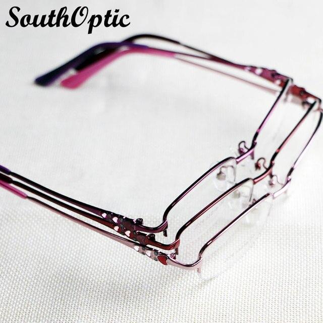 2015 half-рим дизайн бренда нержавеющая сталь памяти титановые гибкие храм очки очки рецепта оптически рамки 2076