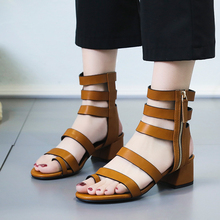 Genuine Leather Women Sandals Gladiator Summer Shoes 2019 Platform Black Flat Woman Casual Shoes Beach Sandals For Woman Shoe muyang mie mie women sandals 2018 new summer shoes woman genuine leather flat sandals fashion casual sandals women