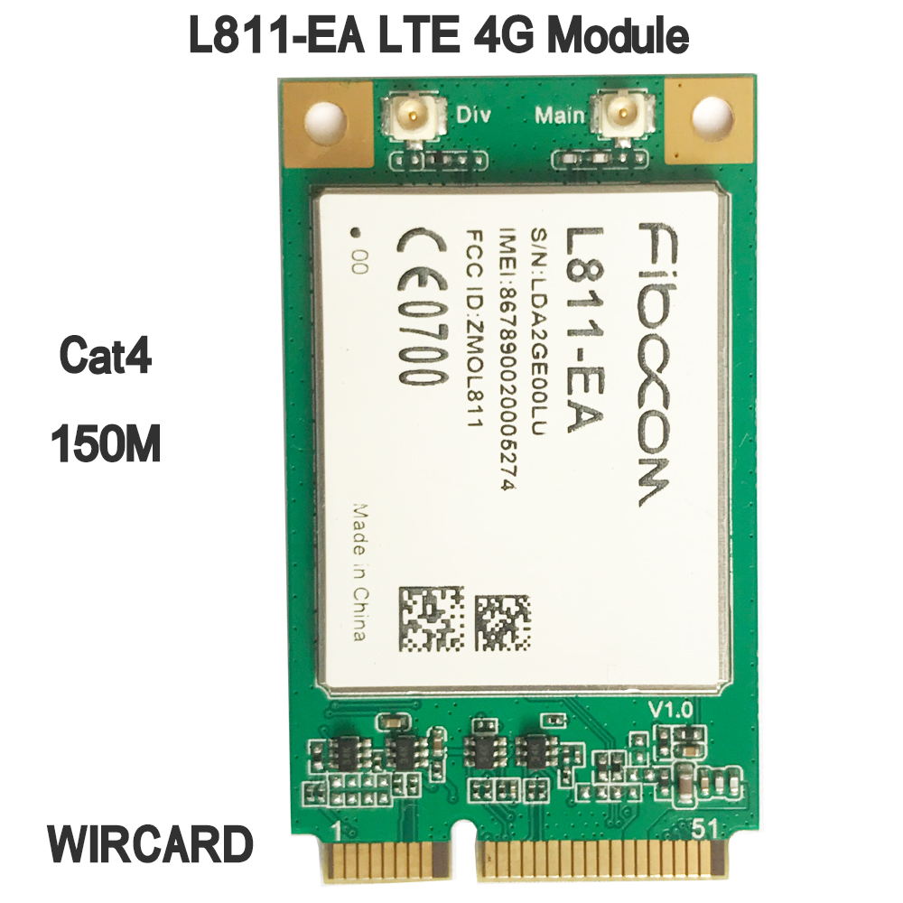 L811-EA LTE 4G Card  mini PCI-E 4G Module FDD-LTE Cat4 Module(China)