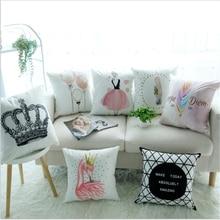 Nordic Simple Car cushion pillowcase ins wind sofa office bedroom cute pillow Home decoration 45x45cm