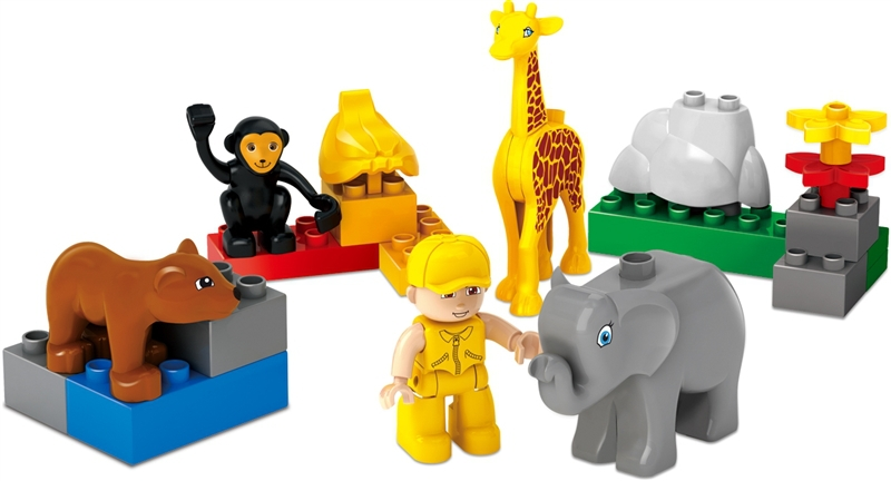 18st FUNLOCK Duplo Jungle Forest djur zoo Ställ Plast DIY Building Blocks Leksaker