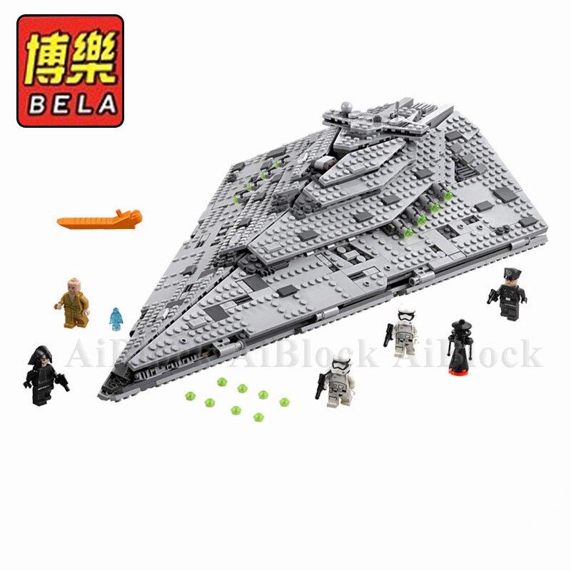 Star Wars gwiezdne wojny 75190 pierwsze zamówienie gwiezdny niszczyciel modelu budynku bloki 1585 kawałek cegły chłopcy prezent urodzinowy Starwars zabawki dla dzieci w Klocki od Zabawki i hobby na  Grupa 1