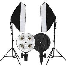 Vídeo Photo Studio Caja Suave 50×70 cm Establece 2 M Soporte de Luz Trípode 4en1 Soporte de La Lámpara De 4 Lámparas de Iluminación de la Fotografía Softbox Kit de DHL