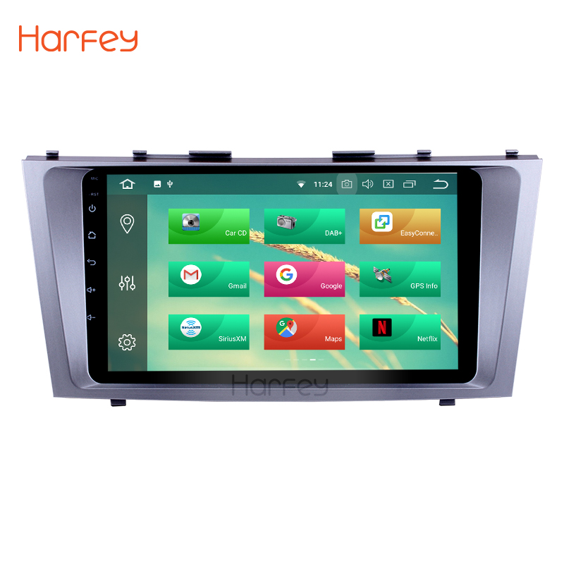 Harfey 9 pouces Android 8.0/8.1 lecteur d'autoradio Navigation GPS pour 2007 2008 2009 2010 2011 Toyota CAMRY Support WiFi Bluetooth