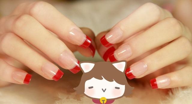 24pcs Short Design Fake Nails Faux Ongles Full Cover False Acrylic Artificial Tips