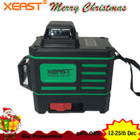 2018 Xeast Green beam Wall levels 360 degree Vertical and Horizontal Self leveling Rotary Laser Level touch control