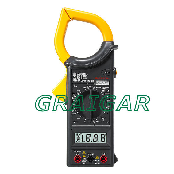 FREE SHIPPING HIGH QUALITY MASTECH DIGITAL AC CLAMP METER M266F high resolution digital clamp meter dt3288 ma ac and dc voltage free shipping