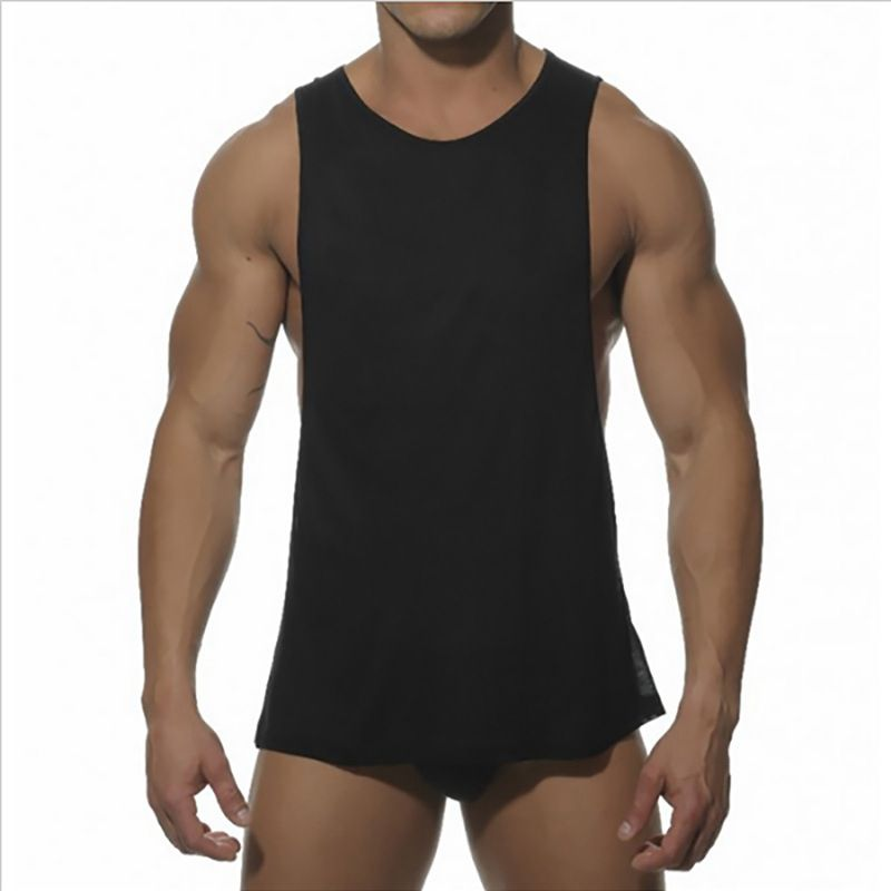 Men Bodybuilding Sexy Tank top fitness Sleeveless Vest Shirt White black  Muscle tops Hot Solid male Cotton fashion 3ebbd60a0
