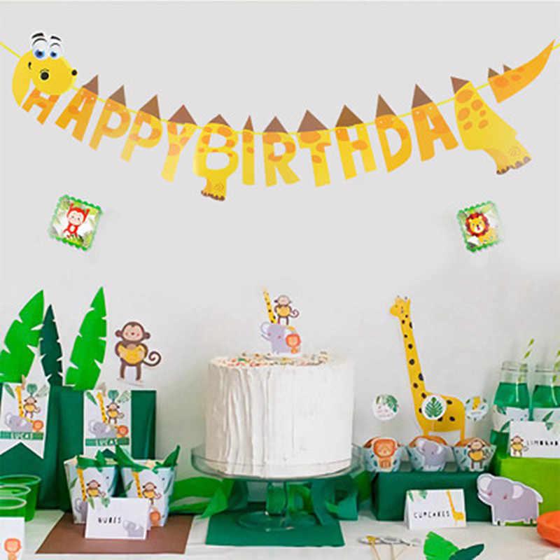 """1 комплект Единорог флаги и растяжки свечи """"Happy Birthday"""" для торта флаг гирлянды-флажки Детские Единорог вечерние украшения «сделай сам» вечерние поставки"""