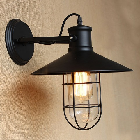 Edison Wall Sconce Retro Loft Style Vintage Wall Lamp For Home Antique Industrial Wall Lights Indoor Lighting Lanpars Pared waterproof for rfid card reader access control system identification card reader with wg26 34 for home security f1683a
