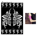 1 Piece Hollow Henna Tattoo Stencil Beauty Rose Flower for Women Arm Art Airbrush Painting Henna Tattoo Stencil DIY Product S301