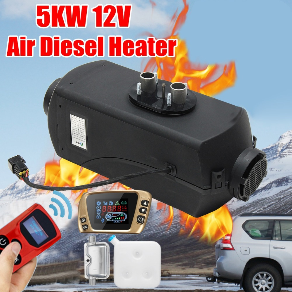 12V 5KW Car Parking Air Diesels Fuel Heater LCD Switch 5000W Car Heater for RV Boats