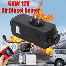 12 В 5KW парковка Air Дизели подогреватель топлива ЖК дисплей переключатель 5000 Вт Автомобиль нагреватель для Контроллер заряда батареи Motorhome грузовиков прицепы + пульт