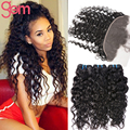 Cheap Malaysian Water Wave with Frontal Closure,Ali Moda Malaysian Ocean Weave Human Hair with Ear to Ear Lace Closure VIP Hair