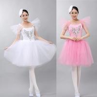 New White Ballet Dress Women Girls Ballerina Dress Gymnastics Leotard Dance Leotards For Adults Collant Ballet