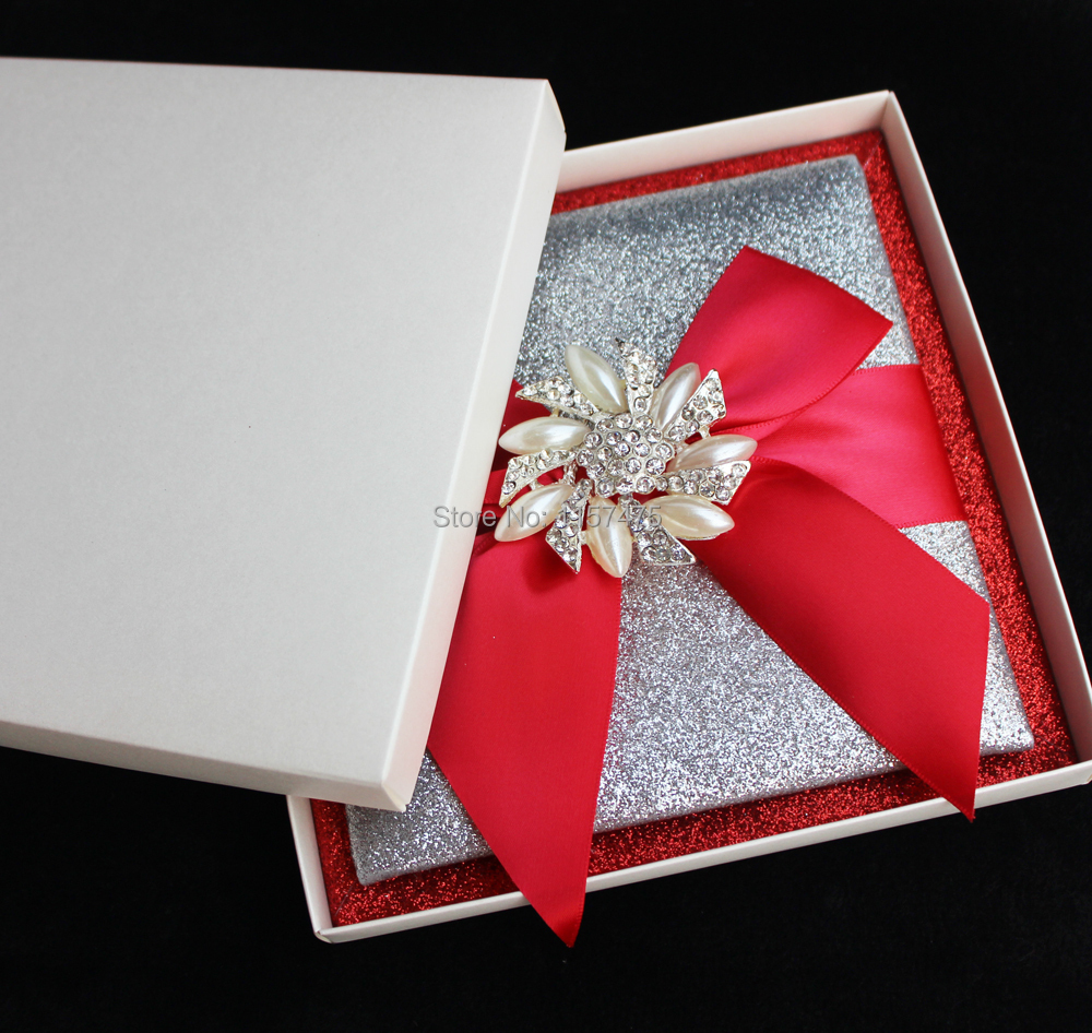 HI1108 Luxury Customized Glitter Wedding Invitation with ...