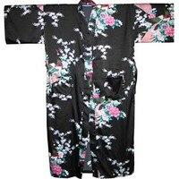 חלוק רחצה הלבשת חלוק משי 2014 נשים חדשות למטה KimonoGown פיקוק מודפס קפטן S M L XL XXL XXXL S0005