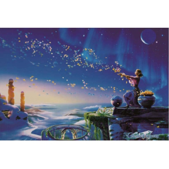 Fairy Scattering Flowers Fluorescent puzzle 1000 pieces Noctilucent jigsaw  puzzles 1000 for adults kids'cool