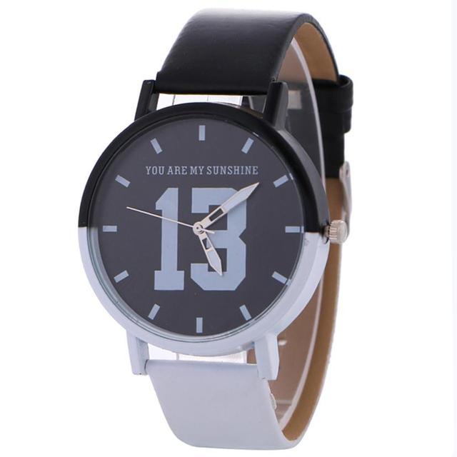 a6e6a72264b Clássico Preto e Branco de Couro Relógio de Quartzo Casal Amantes do Estilo  Vitoriano Relógio Geléia