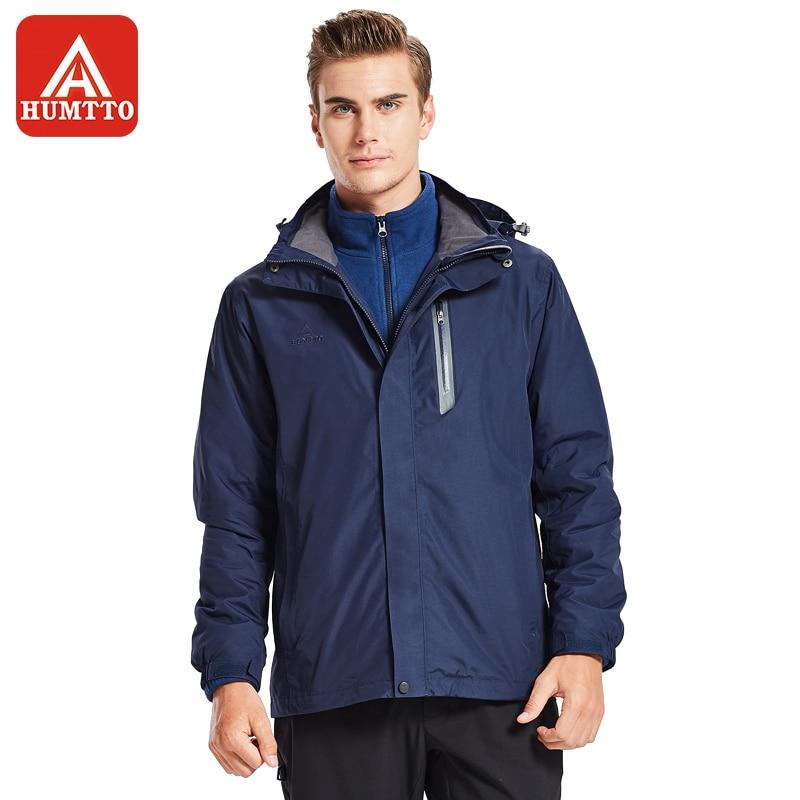 HUMTTO Men's Hiking Jackets Softshell Jacket Winter Outdoor Windproof Waterproof Women Warm Thermal Camping Sportswear Coat