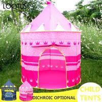 Child Tents Boy Castle Pink Polyester Fiber Tent Magical Play DIY Game House Game Girl Novel Cotton Recreation Princess