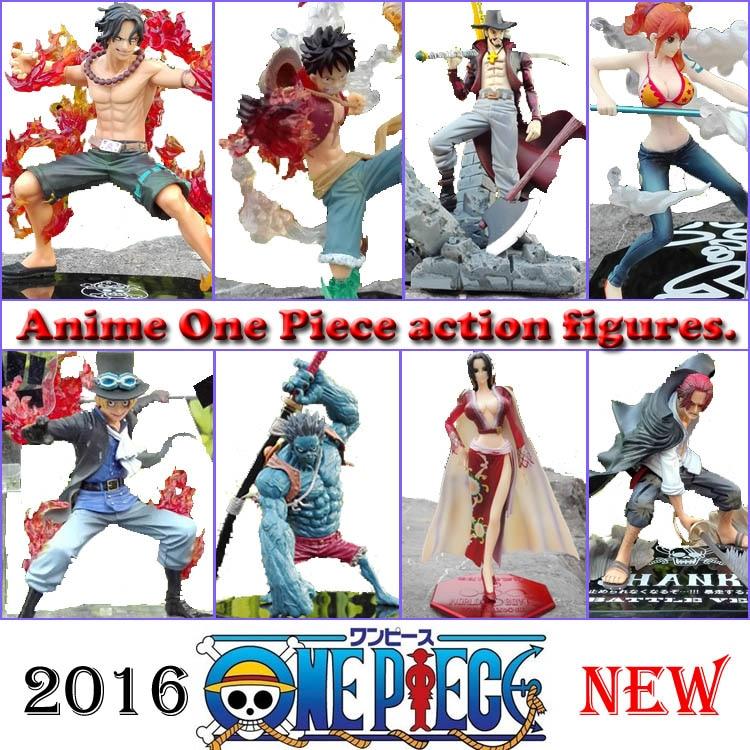 Japonés One Piece Action Ace Sabo LUFFY Figura de anime Zoro Figura de acción Hancock Mihawk Fighting Nami Sanji Modelo Juguete de una sola pieza