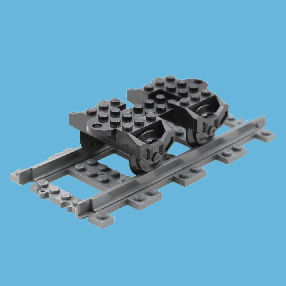 Technic Parts Wheel RC Train, Holder (9V) RC Train, Metal Axle 5 X 100 LDU Bricks Blocks Train Parts Toys Best DIY Gifts